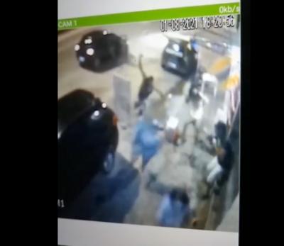 Câmera de segurança flagrou crime no bairro do Valentina de Figueiredo.