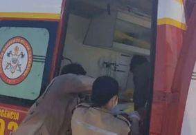 Equipes realizaram ao resgate