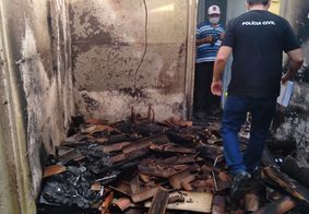 Perícia investiga causas do incêndio em Marcação.